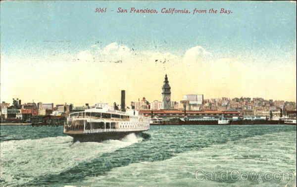 Postcard Image of San Francisco from the bay