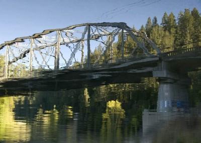 Reflection of Hacienda Bridge