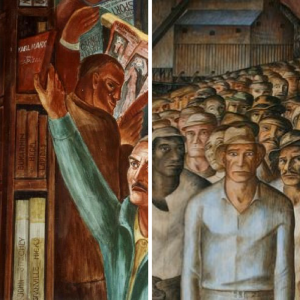 images of Coit Tower murals