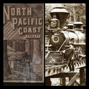 images of trains along the Russian River