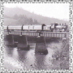 image of train crossing Russian River