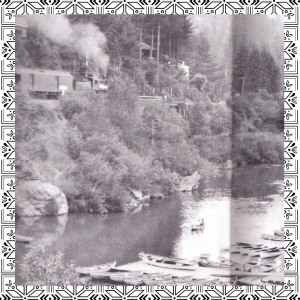 image of train along Russian River