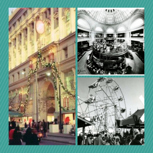 Images of Emporium in S.F. during Christmas