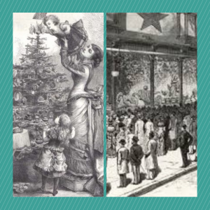images of Christmas in 1880 San Francisco