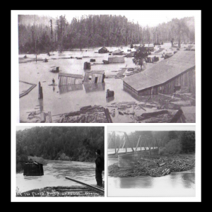 images of early Russian River floods