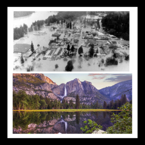 images of 1955 and 1964 California floods